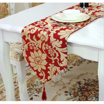 "Chemin de table ""Grand Luxe"" Rouge et Or 210cm"