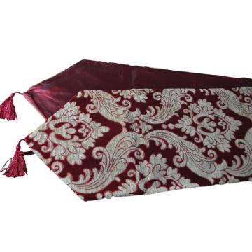 "Chemin de table ""Grand Luxe"" Rouge et Or 210cm"