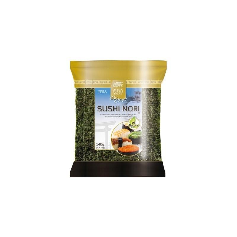 Golden Turtle - 50 Feuilles d'algues(Varech) pour sushis et makis 140G