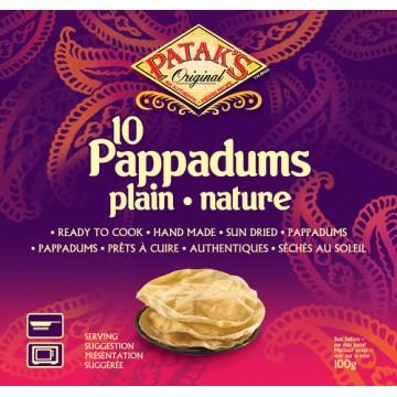 10 Pappadums nature prêts à...